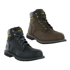 CAT Caterpillar Electric Safety Leather Steel Toe Cap Mens Work Boots UK6-12