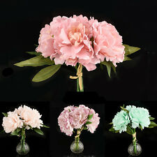 Silk Flower Home Artificial Bridal Hydrangea Fake Peony Wedding Garden Decor U87