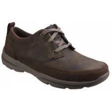 Skechers RELAXED FIT: HARPER OLNEY Mens Leather Casual Lace Up Trainers Brown