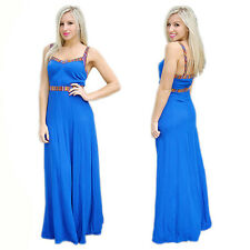 Sexy Women Splice Evening Party Dresses Sleeveless Comfy Summer Long Maxi Dress