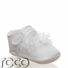 Baby Girls White Soft Sole Shoes Girls Christening Shoes Flower Girl Shoes