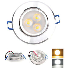 New 3W LED Recessed Ceiling Downlight Spot Cool Lamp Bulb Light W/ Driver