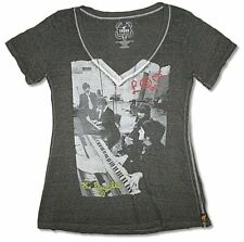 The Beatles & Trunk LTD Things We Said Today Girls Juniors Black V-Neck Shirt
