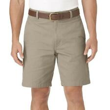 "NEW MENS CHAPS FLAT FRONT SHORTS HUDSON TAN BIG AND TALL 48 50 46 9"" INSEAM"