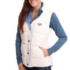 BNWT Roxy 'Lucky' Reversible Gilet, Coat, Seaspray, White / Blue Padded RRP £75