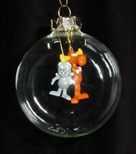 ROCKY and BULLWINKLE XMAS HAND BLOWN GLASS made Christmas Gift ORNAMENT NEW