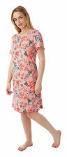 Ladies Soft Touch Oriental Floral Print Nightdress Sizes 12 - 30