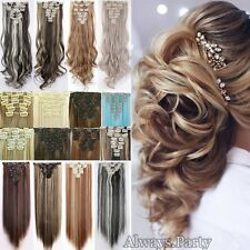 Extra Thick 8 Piece Full Ombre Dip Dye Clip In Hair Extensions Hair Extension Lc