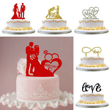 Wedding Anniversary Cake Topper Mr & Mrs Table Party Decoration Toppers