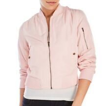 Romeo & Juliet Couture Pink  Cropped Bomber Jacket Sz S, M NWT