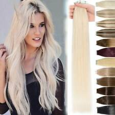 GEADE 8A SEAMLESS TAPE IN REMY HUMAN HAIR EXTENSIONS 7COLOURS 50/100/150G Thick