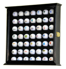 49 Golf Ball Display Case Cabinet Wall Rack Holder w/98% UV Protection Lockable