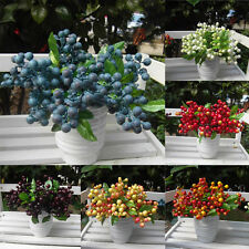 Decorative Blueberry Fruit Berry #Artificial Flowers For Wedding Home Decoration