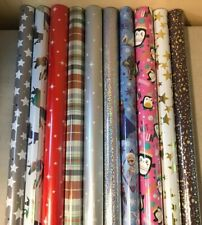 5 - 40 METRES WRAPPING PAPER GIFT WRAP CHRISTMAS BIRTHDAY ROLLS ASSORTED DESIGNS