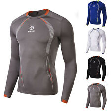 HOT!Mens Compression Under Base Layer Tops Tight Long Sleeve T-Shirts Sport Gear