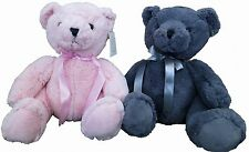 Plush animal pair: Paul & Teddy bear Pink & Anthracite Stuffed Cuddly Toy