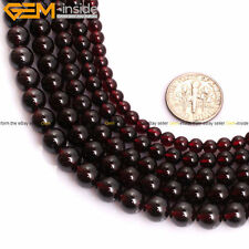 New AAA Grade Natural Round Red Garnet Beads Gemstone for Jewelry Making 15''