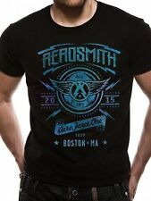 Aerosmith T Shirt Aero Force One Official Licensed Black Mens Tee Rock NEW