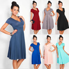 Womens Evening Cocktail Casual Dress Pleated Short Sleeveless Party Dress F6026