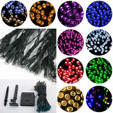 60/100/200 LEDs Solar Powered String Fairy Lights 8M/12M/22M Lamp Party Festival