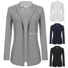 New Women Casual Long Sleeve Solid Open Stitch Knit Cardigan Coat DZ8801