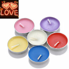 50 PCS Smokeless Scented Candle Tea Light Wax Nightlight 2 Hours Buring