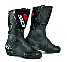 Sidi Fusion Motorcycle Motorbike Armoured Race Road Boots - Black