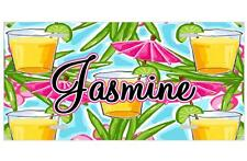 """Personalized Tropical """"DRINK UMBRELLAS"""" MONOGRAM LICENSE PLATE Novelty Tag"""