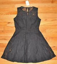 NWT Banana Republic Petite Fit And Flare Black Lace Dress $109 Fully Lined *4E