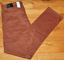 NWT NEW Mens Banana Republic 5 Pocket Pants Sueded Slim Fit Stretch Rust *V5