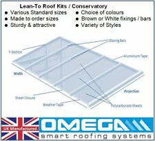 Lean To Conservatory Roof Kit DIY - 4m Projection, 10/16/25mm Polycarbonate