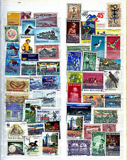 New Zealand collection....album page with used stamps