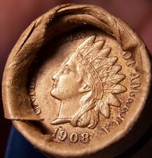 1908 INDIAN/1883 INDIAN CENT ENDS MIXED OLD ROLL WHEAT/INDIAN ESTATE CENTS #8130