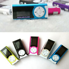 Mini Portable LCD MP3 Player USB Rechargeable Clip Support 16GB SD/TF Card