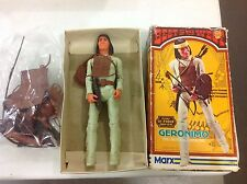 "Vintage 11"" Marx Geronimo In Box! Complete! Free Shipping!"