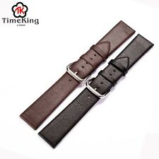 12 14 16 18 20 22mm Genuine Cow Leather Wrist Watch Band Strap Buckle