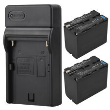 2Pcs 7800mAh NP-F960 NP-F970 Battery Pack With Charger For Sony Digital Camera