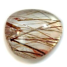 Natural Copper / Black Rutile Quartz Freeform Cabochon Collection