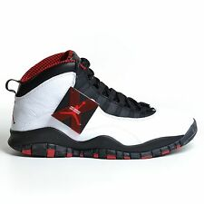 AIR JORDAN 10 RETRO CHICAGO WHITE VARSITY RED BLACK 2012 X NIKE DS 310805-100