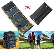 7W 5.5V Portable Foldable Solar Panel Charger Battery Mobile Cell Phone Charger