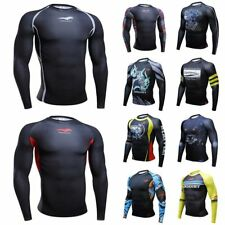 New Mens Compression Under Base Layer Tops Tight Long Sleeve T-Shirts Sport TOP