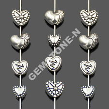 Tibetan Silver Heart Metal Pendant Connector Space Charm Findings Beads