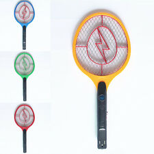 Rechargeable LED Electric Bug Pest Fly Mosquito Killer Swatter Zapper Racket 4co