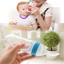 Baby Infant Food Cereal Squeeze Feeding Bottle Spoon Nursing Bottle Feeder HOT