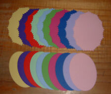 20 Die Cut Ovals In White Or Coloured Card