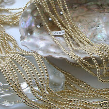Japanese Gold Faux/Acrylic/Plastic Pearls Beads Strands 2,2.5,3,4,5,6,8,10,12mm