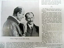 1912 newspaper DEATH of WILBUR WRIGHT - co-INVENTOR of the AIRPLANE w ORVILLE