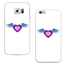 Heart Angel Wing Plastic Phone Case Cover for iPhone Samsung Galaxy S7 Tasteful
