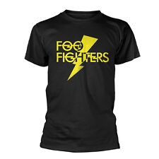 Foo Fighters T Shirt Lightning Strike Official Black Mens Grohl Congrete & Gold