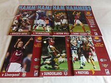 WEST HAM UNITED 1999/2000 HOME PROGRAMMES